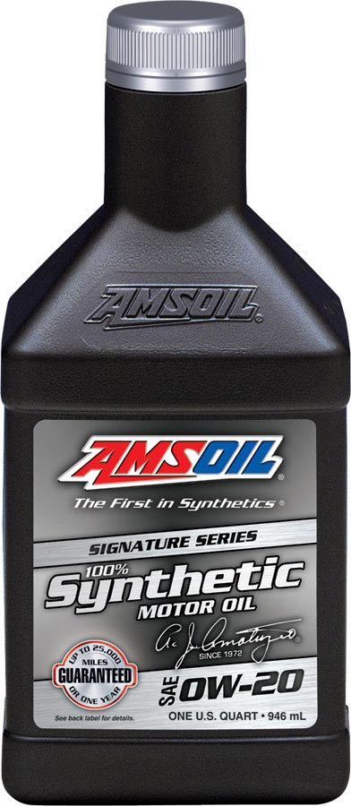 Amsoil 100 synthetic sae 0w 20 asmqt for Sae 0w 20 synthetic motor oil
