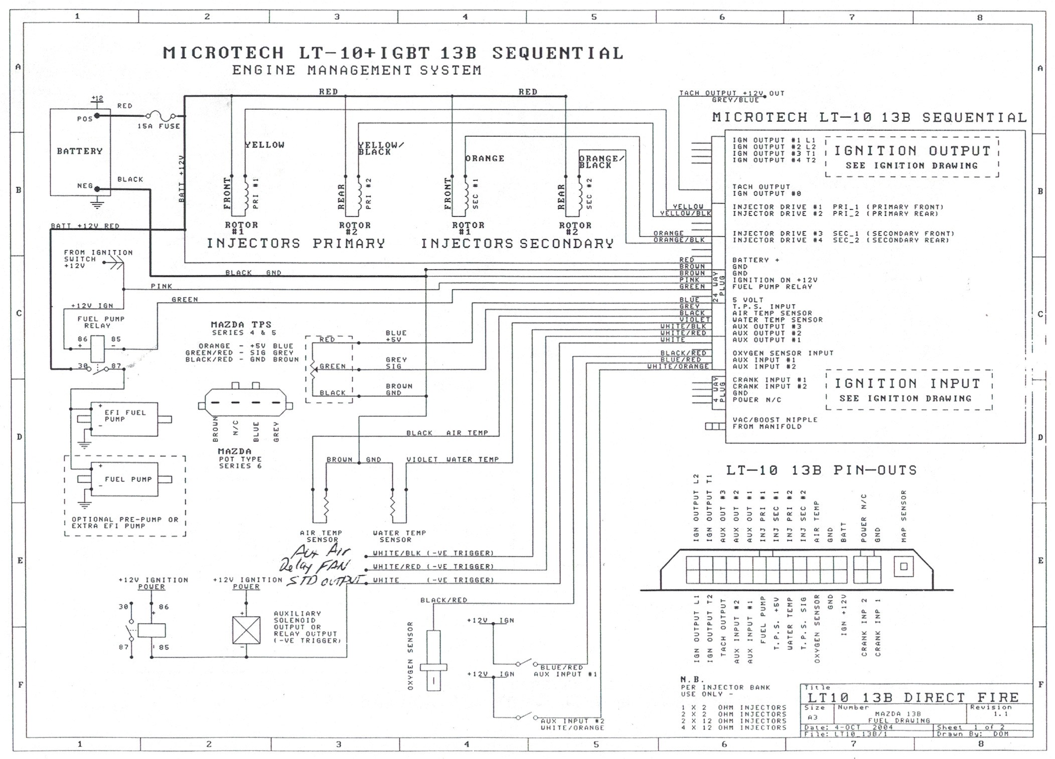 microtech lt series wiring harness (mt loom) rx7 fuse panel diagram microtech wiring diagram
