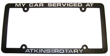 Atkins Rotary License Plate Frame Are License