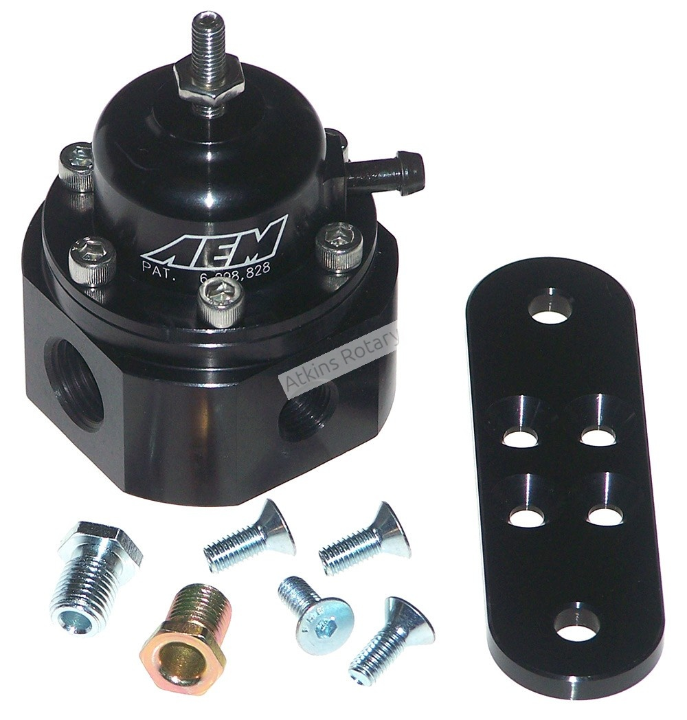AEM Universal Adjustable Fuel Pressure Regulator (25-302BK)