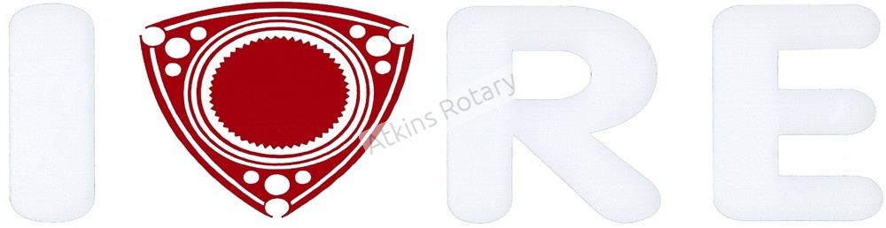 I Love Rotary Engines Decal (ARE8114)