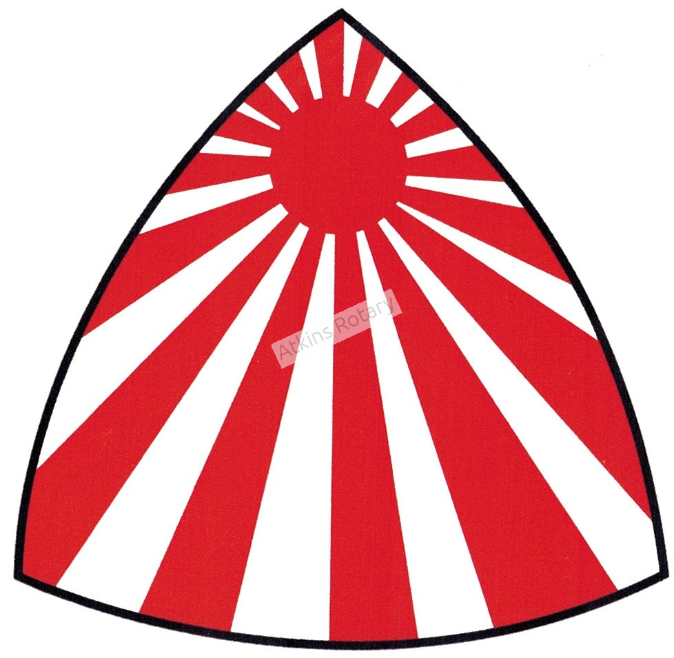 Japanese Flag Rotor Rising Decal (Clean)