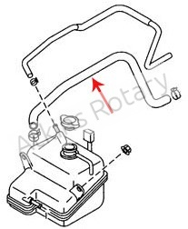 04-11 Rx8 Thermostat to Tank Lower Hose (N3H1-15-381)