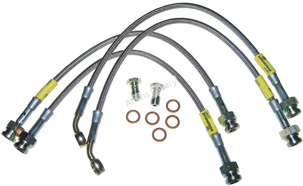 86-92 Rx7 Four Piston Stainless Steel Brake Line Kit (14526)