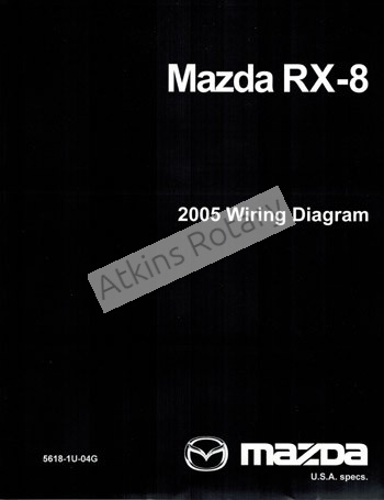 [DIAGRAM_34OR]  04-11 Rx8 Wiring Diagram Workshop Manual (9999-95-040G) | Mazda Rx8 Injector Wiring Diagram |  | Atkins Rotary