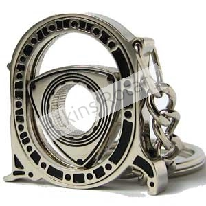 Spinning Nickel Rotor & Housing Key Chain (ARE8205-N)