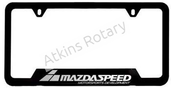 Mazdaspeed Black Steel License Plate Frame (BLMS-83-C10)