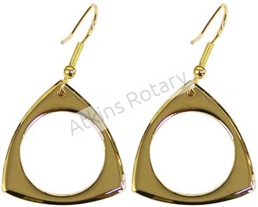 Gold Hoop Rotor Earrings (ARE8303-G)